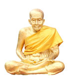 Isolerat skjutit av statyn av den buddistiska monken Royaltyfria Foton