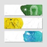 Isolerat skrynkligt pappers- baner för din design Tillbehör för manlig och kvinnlig frisyr eller att utforma på frisörsalongen Ve stock illustrationer