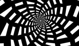 Isolerat spiralt på vit bakgrund av fyrkanter vektor för bild för designelementillustration Royaltyfria Foton