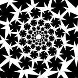 Isolerat spiralt på vit bakgrund av fyrkanter vektor för bild för designelementillustration Fotografering för Bildbyråer