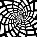 Isolerat spiralt på vit bakgrund av fyrkanter vektor för bild för designelementillustration Royaltyfri Foto