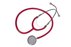 isolerat stetoskop Arkivfoton