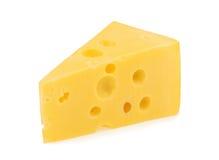 Isolerat stycke av ost arkivbild