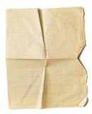 isolerat suttet fast gammalt paper ark för math Royaltyfria Bilder