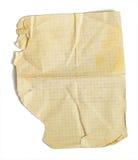isolerat suttet fast gammalt paper ark för math Royaltyfri Bild
