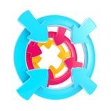 isolerat symbol för piluppmärksamhet emblem Arkivfoton