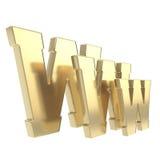Isolerat symbol för world wide webwww bokstav Arkivbilder