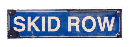 Isolerat tecken för gata för sladdningrad Arkivfoton