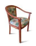 isolerat trä för arm stol Royaltyfri Bild