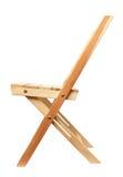 isolerat trä för stol folding royaltyfri bild