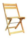 isolerat trä för stol folding arkivbild