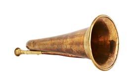 Isolerat trumpetmusikinstrument Royaltyfri Bild