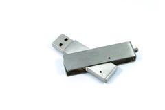 Isolerat USB pråligt minne Arkivbild