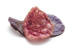 Isolerat utsmyckat chips arkivfoto