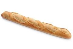 Isolerat vitt bröd för fransk bagett Arkivfoton