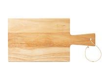 isolerat vitt trä för bräde cutting arkivbild