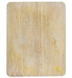 isolerat vitt trä för bräde cutting royaltyfri fotografi