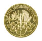 Isolerat Wien för guld- mynt filharmoniskt Fotografering för Bildbyråer