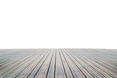 Isolerat Wood golv royaltyfri foto