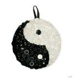 Isolerat Yin och yang tecken royaltyfri fotografi