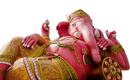 Isolering som vilar den head guden för elefant på Wat Samarn Rattanaram Royaltyfri Bild