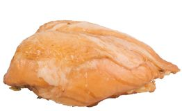 isoleted抽烟的乳房鸡 免版税图库摄影