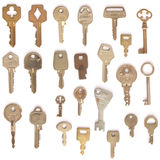 Isoleted keys set Royalty Free Stock Images