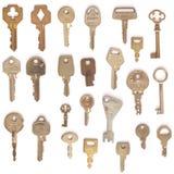 Isoleted keys set. Isoleted on white keys set Royalty Free Stock Images