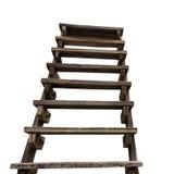 Isoli la vecchia scala di legno otto Immagine Stock Libera da Diritti