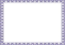 Isolierrahmenhintergrundschablone für Zertifikat Stockfotografie