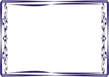 Isolierrahmenhintergrundschablone für Zertifikat Stockfotos