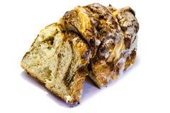 Baked nut braid isolated on white background royalty free stock photo