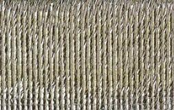 Isolierung der silbernen Folie Stockbild