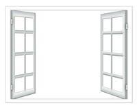 Isolierung des offenen Fensters Lizenzfreie Stockbilder
