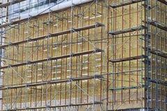 Isolierung von Fassaden Stockfotos