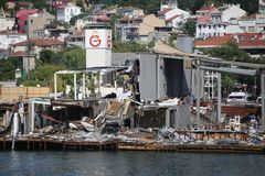 Isolotto di Galatasaray a Costantinopoli Immagine Stock Libera da Diritti