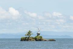 Isolotto nel mare di Caribian da Livingston Fotografia Stock Libera da Diritti