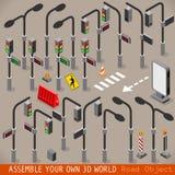 Isométrico ajustado da gestão de trânsito urbana ilustração royalty free