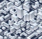 Isométrico   ciudad ilustración del vector