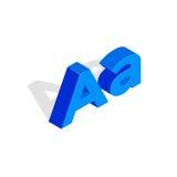 Isométrico uma letra Ilustração da fonte, primeira letra Imagem de Stock