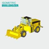 Isomatric buldozer stock illustration