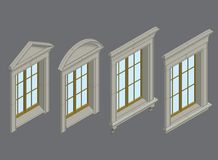Isomentic windows set Stock Photos