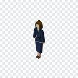 Isometric夫人 女实业家 库存图片