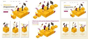 Isometric διαφωνίες συνέταιρων ελεύθερη απεικόνιση δικαιώματος