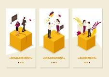 Isometric διαφωνίες συνέταιρων διανυσματική απεικόνιση
