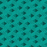 Isometric άνευ ραφής σχέδιο Στοκ Φωτογραφία