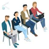Isometric άνθρωποι Επιχειρησιακή κατάρτιση ενημερώσεων Στοκ εικόνα με δικαίωμα ελεύθερης χρήσης