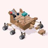 Isometric Άρης Rover Στοκ εικόνα με δικαίωμα ελεύθερης χρήσης
