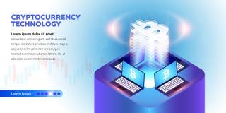 Isometric έμβλημα Cryptocurrency διανυσματική απεικόνιση