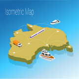 Isometric έννοια της Αυστραλίας χαρτών Στοκ φωτογραφία με δικαίωμα ελεύθερης χρήσης